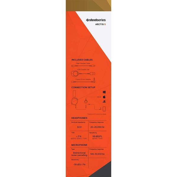 国内正規品密閉型 ゲーミングヘッドセット SteelSeries Arctis 5 Black (2019 Edition) 61504|shimizusyouten01|09