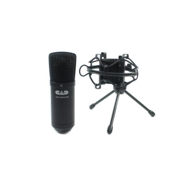 CAD AUDIO プレミアム USB ラージダイアフラム単一指向性コンデンサーマイクロフォン w/トライポットスタンド, 10フィートUS shimizusyouten01