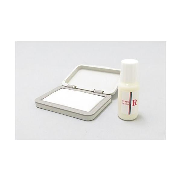 再入場スタンプ 赤色(ブラックライトインク) と 日亜化学工業 UV-LED(375nm)ブラックライトキーホルダー付|shimizusyouten01