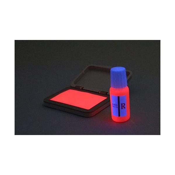 再入場スタンプ 赤色(ブラックライトインク) と 日亜化学工業 UV-LED(375nm)ブラックライトキーホルダー付|shimizusyouten01|03