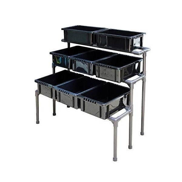 メダカ飼育ラックNVBOX13専用設計めだかのお世話を楽に防錆・高強度コンパクト設計屋外棚ラックアクア容器水槽繁殖