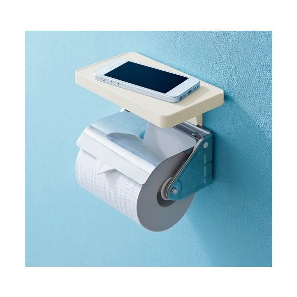 like-it トイレ シェルフ スクエア Smart Shelf - for mobile,wallet&coins アイボリー 幅17x奥10x高13cm SS-11L|shimoyana|02