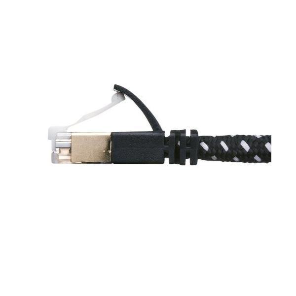 サンワサプライ CAT7細径メッシュLANケーブル (1m) 10Gbps/600MHz RJ45 ツメ折れ防止 ブラック&ホワイト KB-T7ME-01BKW|shimoyana|09