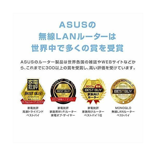 ASUS  1734+800Mbps(11a/b/g/n/ac)  スタイリッシュなデュアルバンドギガビットWi-Fi高速無線ルーター RT-AC85U(利用目安環 shimoyana 07
