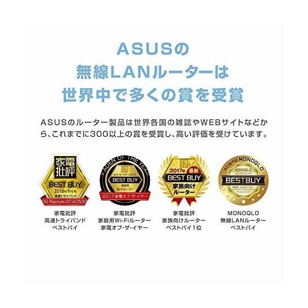 ASUS  1734+800Mbps(11a/b/g/n/ac)  スタイリッシュなデュアルバンドギガビットWi-Fi高速無線ルーター RT-AC85U(利用目安環 shimoyana 08