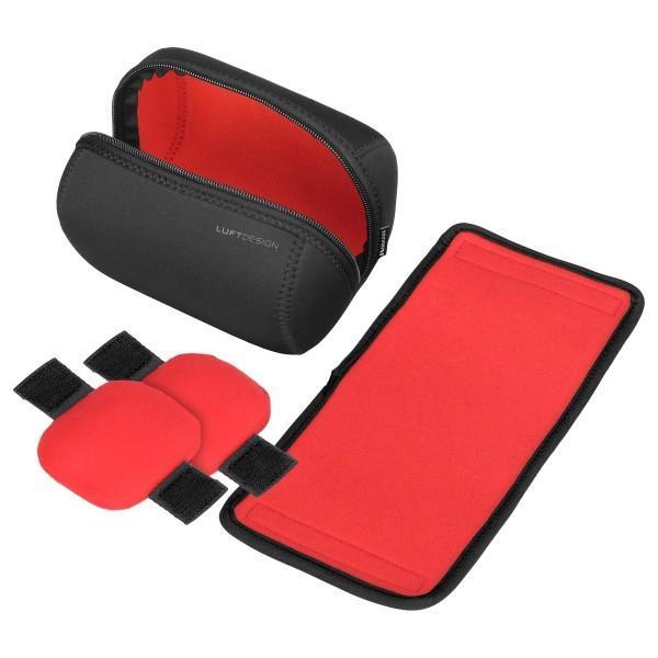 HAKUBA レンズケース ルフトデザイン スリムフィット レンズポーチ 110-150 着脱式インナークッション ブラック K