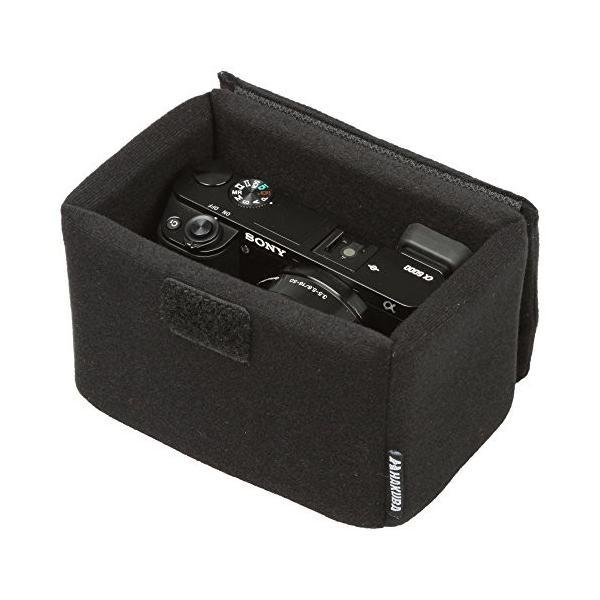 HAKUBA カメラバッグ インナーソフトボックス 100 ブラック 取り外し可能なフタ付き KCS-39-100BK