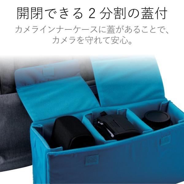 エレコム トートバッグパソコン収納ポケット カメラ収納インナーケース付 グレー DGB-S030GY