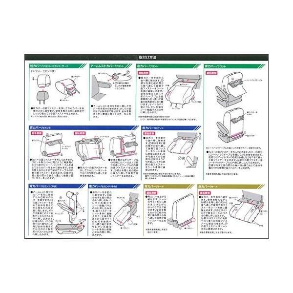 ボンフォーム シートカバーセット ソフトレザーR セレナ専用 W8-42 ブラック 4497-49BK|shimoyana|04