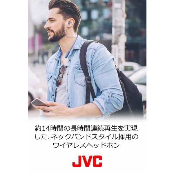 JVC HA-FX37BT-W Bluetooth 連続14時間再生ワイヤレスイヤホン/ネックバンド ホワイト