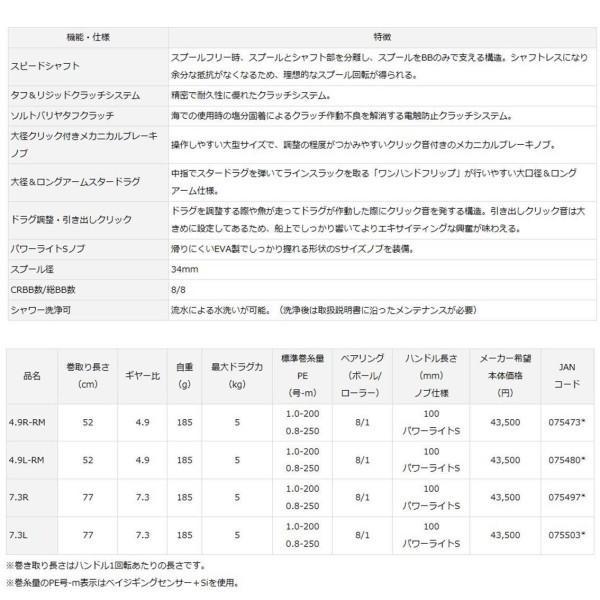 ダイワ(Daiwa) タイラバ ベイトリール 紅牙 TW 4.9L-RM