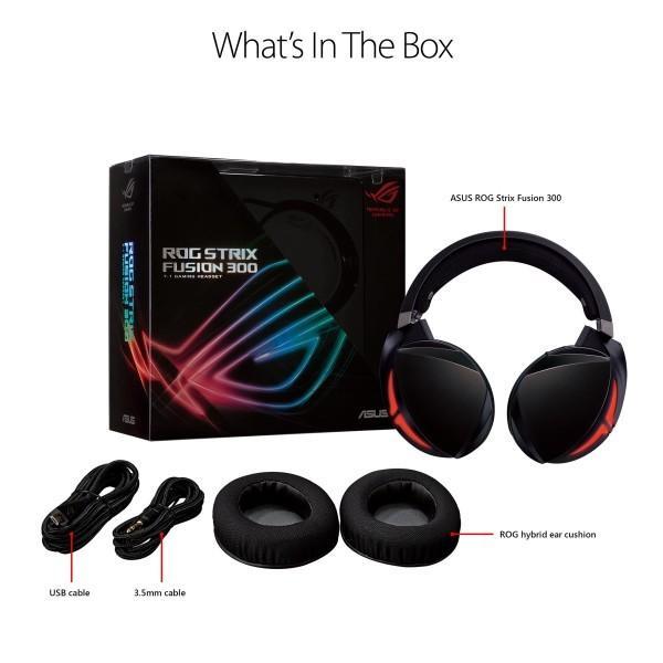 ASUS PC、MAC、ゲーム機器等に対応可能なUSB2.0&3.5mmコネクタモデル ゲーミングヘッドセット ROG Strix Fusion 300|shimoyana|05