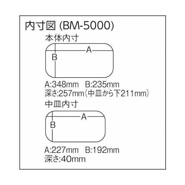 メイホウ(MEIHO) BM-5000 バケットマウス  ブラック