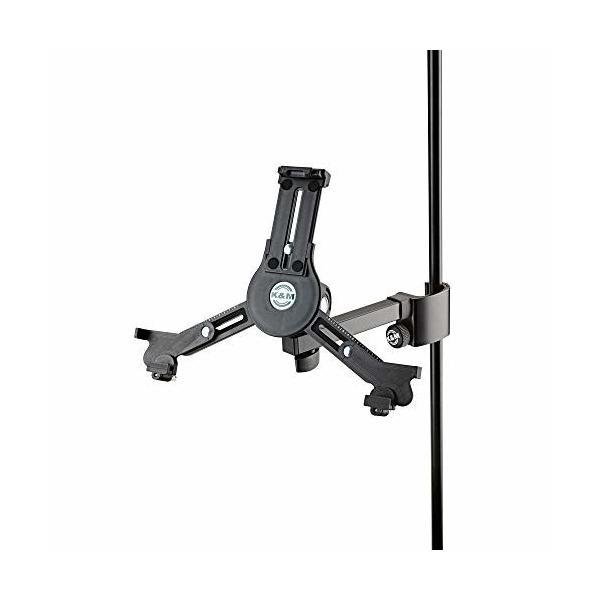 K&M タブレットホルダー クランプ付き  カラー:ブラック