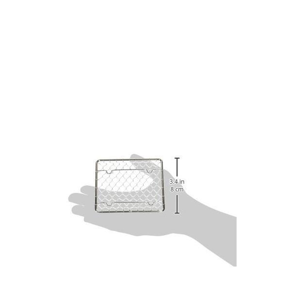 ステンレス 手編み 盛付網 角(100×100) shimoyana 02