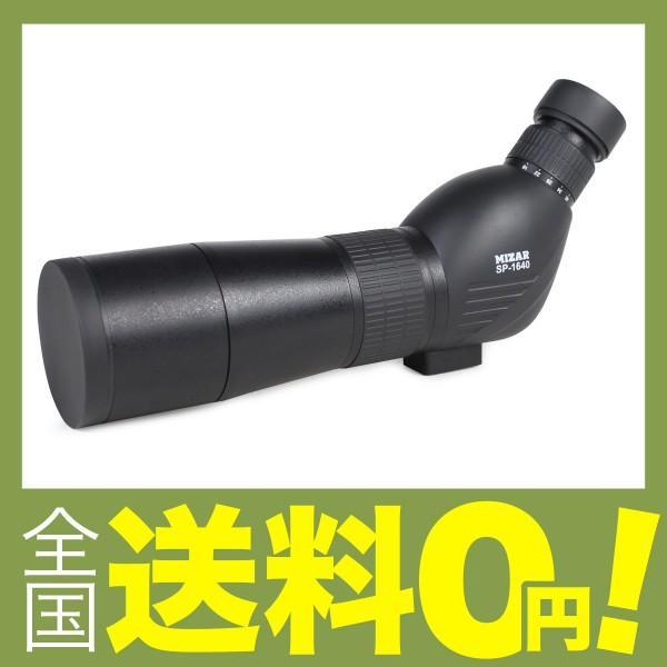 MIZAR(ミザールテック) フィールドスコープ ズーム 60mm 口径 傾斜型 ブラック SP-1640