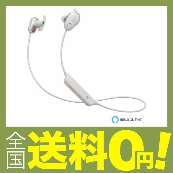 ソニー Bluetoothヘッドホン WI-SP600N W ホワイトの画像