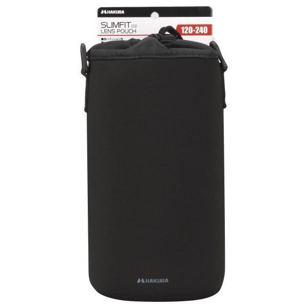HAKUBA 交換レンズケース スリムフィット02 レンズポーチ 120-240 ブラック KLP-S02-1224