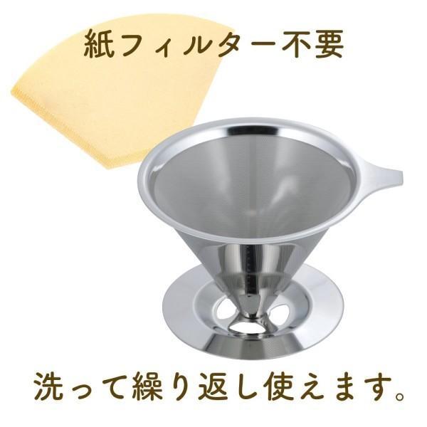 和平フレイズ ドリッパー コーヒー マイチョイスカフェ ステンレスフィルター RD-0089|shimoyana|03