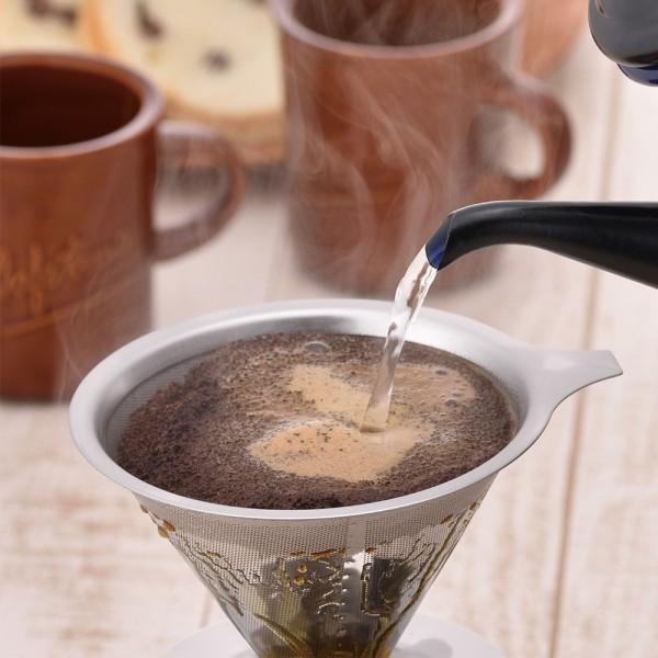 和平フレイズ ドリッパー コーヒー マイチョイスカフェ ステンレスフィルター RD-0089|shimoyana|04