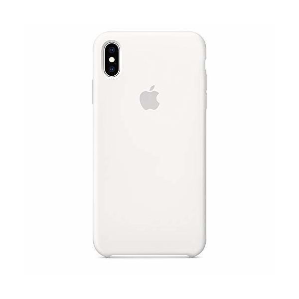 Apple iPhone XS Maxシリコーンケース - ホワイト|shimoyana