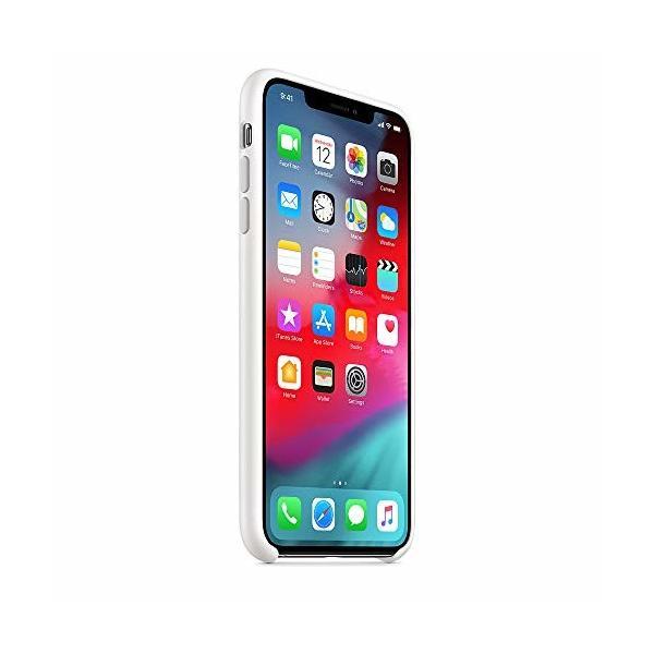 Apple iPhone XS Maxシリコーンケース - ホワイト|shimoyana|03