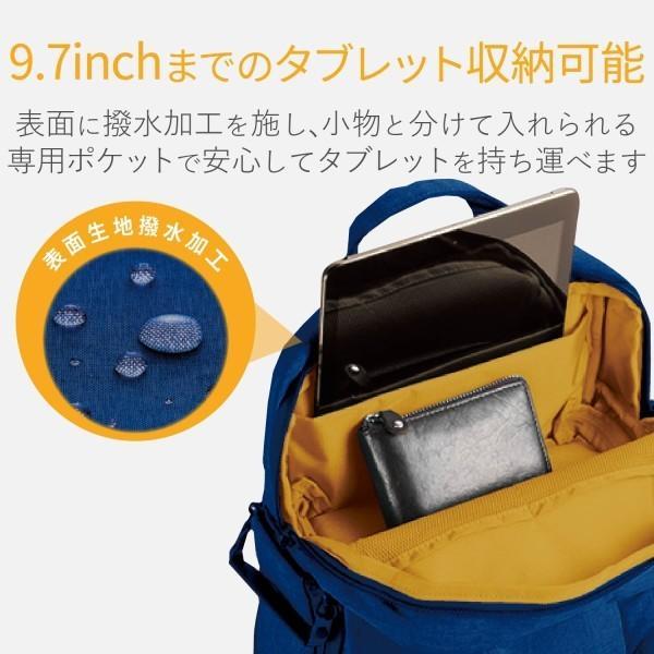 エレコム カメラ収納 バックパック off toco 2STYLE タブレットポケット(~9.7インチ) 2018モデル Sサイズ ( 参考収容