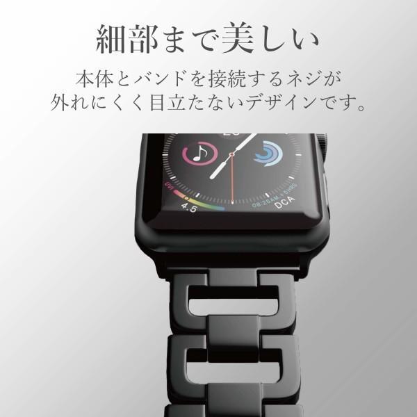 エレコム Apple Watch バンド 44mm / 42mm ステンレス (埋め込まれたラインストーンとシルバーのステンレスが、手首