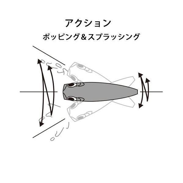 デュエル(DUEL) ポッパー ハイドロ 25g 90mm レッドヘッド RH
