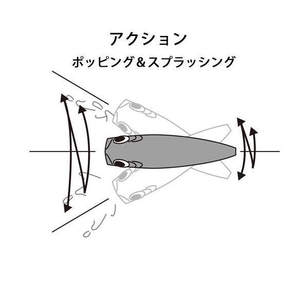 デュエル(DUEL) ポッパー 3D 42g 120mm ボニータ CPBN