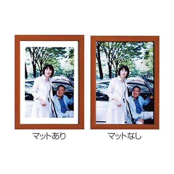 ナカバヤシ デジタルプリントフレーム A4 B5 ブラウン フ-DPW-A4-BR shimoyana 04