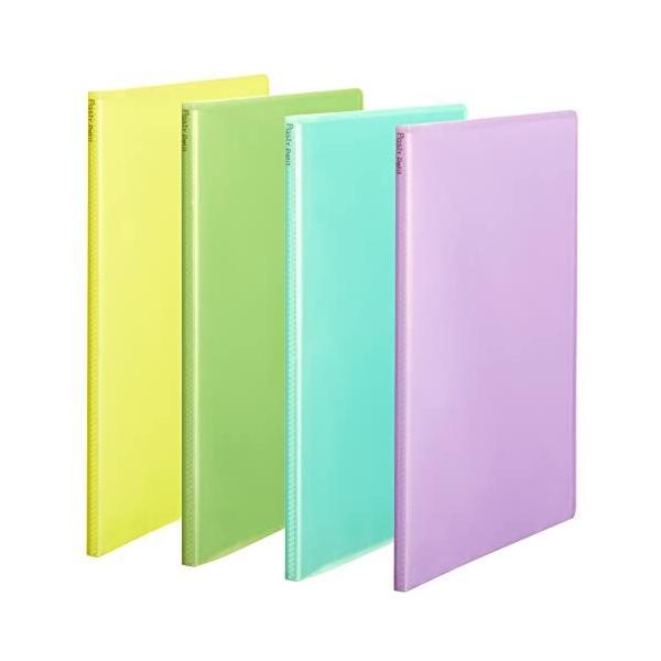 プラス ファイル クリアファイル A4縦 20ポケット Pasty petit フルーツスカッシュ 4色組 shimoyana