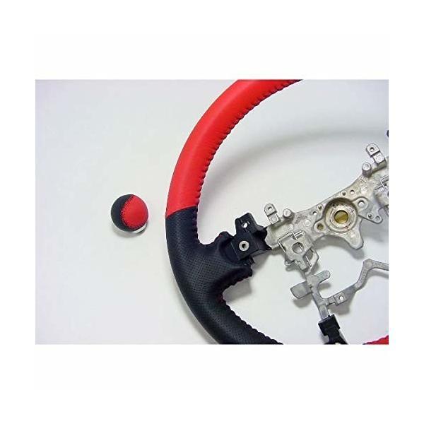 ATC (エーティーシー) プリウスZVW20/30/40 アクア NHP10 シフトノブ(レザーモデル)レッド&ブラックエアー 赤ステッ|shimoyana|02