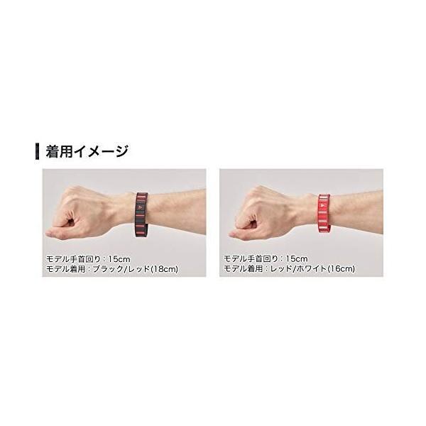 ファイテン(phiten) ブレスレット RAKUWAブレス EXTREME ボーダー ブラック/レッド 18cm|shimoyana|04