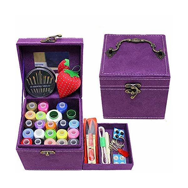 QD-SGMP 裁縫箱 さいほうセット 小学生 女の子 ソーイングボックス 裁縫道具 裁縫セット かわいい 裁縫ボックス