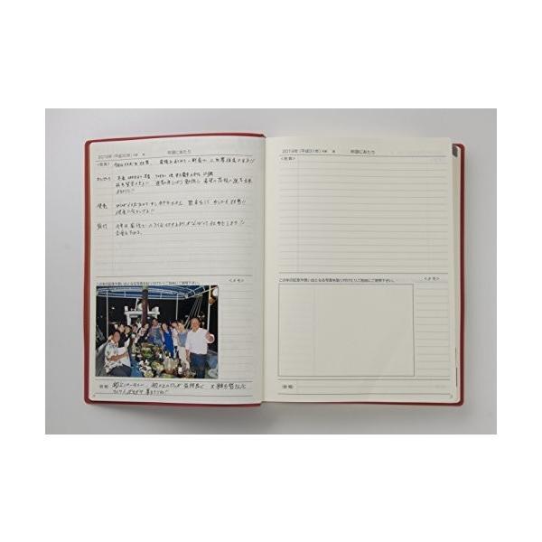 石原出版社 日記 2019年 石原10年日記 B5 こげ茶 N101901|shimoyana|02