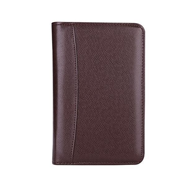 システム手帳 a5/a6メモ帳 ルーズリーフ バインダーノート 6穴 電卓搭載 ペンホルダー 名刺・カード入れケース