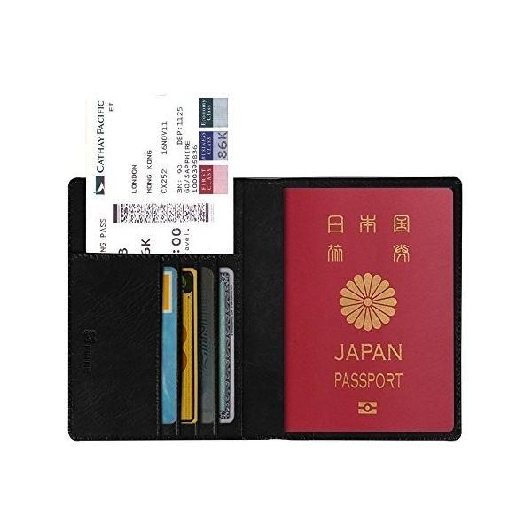 Fintie パスポートケース ホルダー トラベルウォレット スキミング防止 安全な海外旅行用 高級PUレザーパスポ