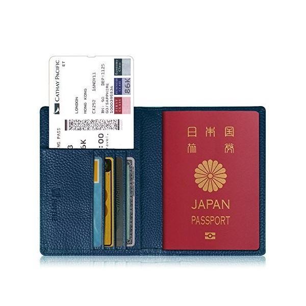 パスポートケース ホルダー トラベルウォレット スキミング防止 安全な海外旅行用 高級PUレザーパスポートカ