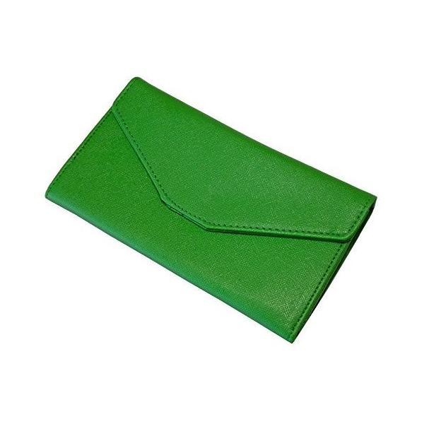 多機能 パスポート ケース お金 カード スマホ もスッキリ収納 男女兼用 日常のお財布にも! (緑)