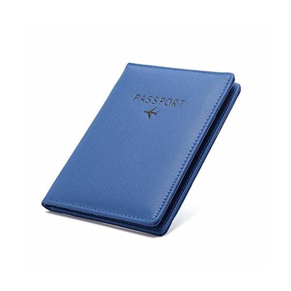 パスポートケース ホルダー トラベルウォレット スキミング防止 安全な海外旅行用 PUレザーパスポートカバー