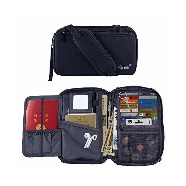 gRabbit 3人分の母子手帳ケース パスポートケース RFID スキミング防止 大容量