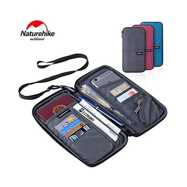 Naturehike パスポートケース カードバッグ 財布 小銭入れ 多機能 パスポートバッグ 22.5x12cm 灰色青色紫色 男女通