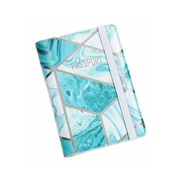 Nacuwa パスポートウォレット 大容量 パスポートケース 女性 収納便利 レザー トラベルウォレットオーガナイザ