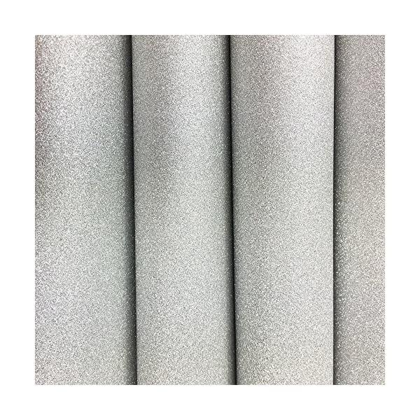 グリッターペーパー/厚紙タイプ (シルバー/銀色) (接着剤なし) ラメで キラキラ輝く DIY手芸用 A4サイズ 10枚セ