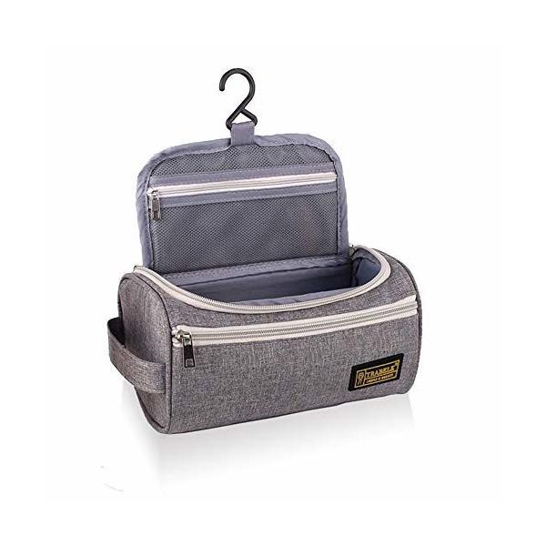 IDEASHOW トイレタリーバッグ 吊り下げトラベルポーチ 旅行用洗面用具ポーチ トラベルポーチ 化粧ポーチ 洗面