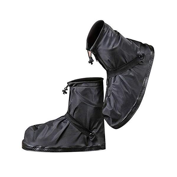 (moofun)シューズカバー靴カバー防水梅雨対策レインカバー軽量滑り止めコンパクト雨泥避け雨具男女兼