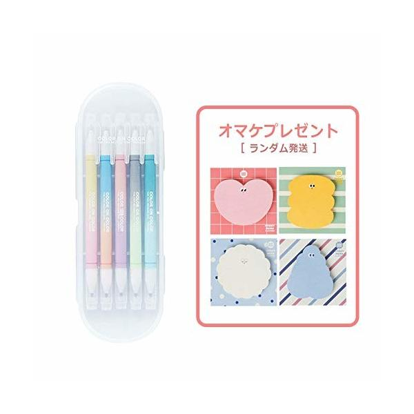 (LIVEWORK) Twin Deco pen 10COLOR ツインデコペン10カラー 2色ペン 2色蛍光マーカー 2色ツインマーカー デコペン デコレ
