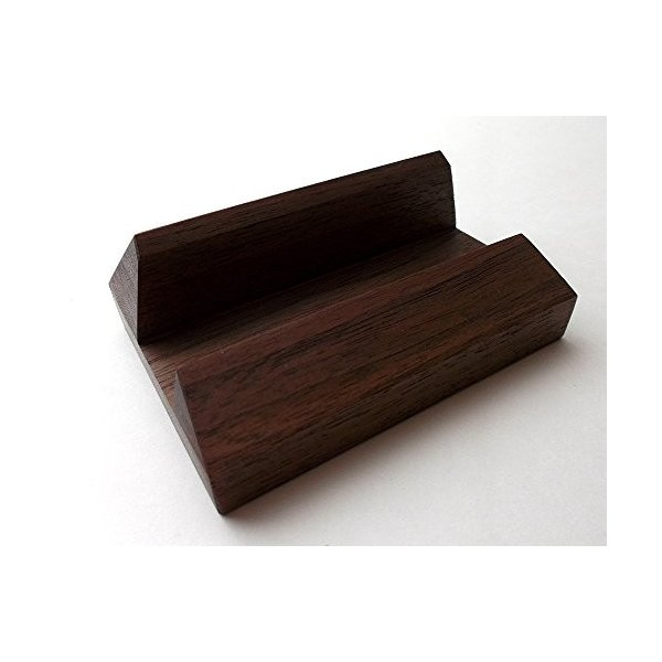 MokuPro 木製カードスタンド 無垢材(ブラックウォールナット材)  名刺・ショップカード用スタンド