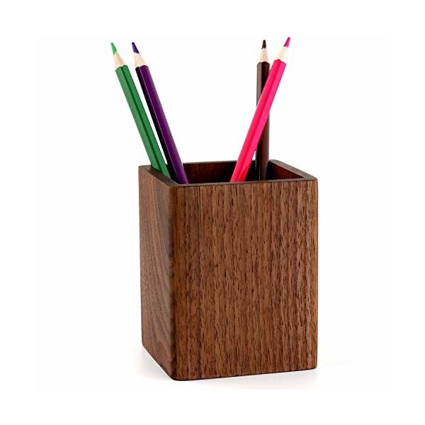 YOYAI ペン立て 木製 ウッドペンホルダー オフィス用品 卓上文具収納 鉛筆オーガナイザー ペンスタンドホルダ
